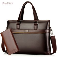 Men's Leather Business Bag  Price: 32.99 & FREE Shipping  #shoulderbags