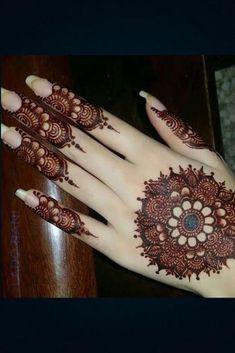 Kashee's Mehndi Designs, Round Mehndi Design, Mehndi Designs Front Hand, Latest Henna Designs, Floral Henna Designs, Finger Henna Designs, Mehndi Designs For Girls, Mehndi Designs For Beginners, Mehndi Design Photos