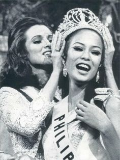 exactly 50 years ago as men were landing on the moon, a Filipina was taking off for the universe. Miss Philippines Gloria Diaz was crowned Miss Universe 1969 in Miami Beach, Florida, making her the first Filipina to win the crown. Miss Universe Philippines, Miss Philippines, Philippines Culture, Manila Philippines, Today In History, Women In History, Jose Rizal, Miss Universe 2015, Miss Teen Usa