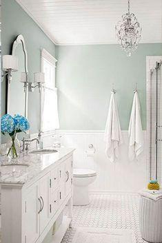 Blue green bathroom trending bathroom paint colors your Bathroom Paint Colors, Bathroom Layout, Bathroom Ideas, Bath Ideas, Budget Bathroom, Tub Paint, Shower Ideas, Bathroom Small, Bathroom Designs