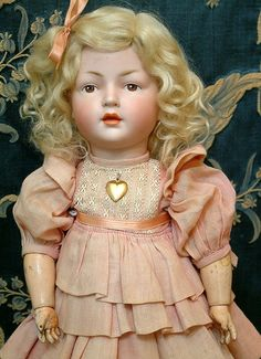"14"" Extremely Rare Hertel & Schwabb 140 Character Toddler With from kathylibratysantiques on Ruby Lane"