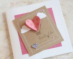 Grußkarte zum Valentinstag, verliebt, Herzen, Wölkchen, gestempelt, Verrückt nach dir, genäht, Stampin´UP!, Sandra Kolb, www.samey-atelierfarbstil.blogspot.de,