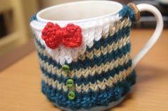 Knitted Cup Cozy  Cardigan Inspired Mug Cozy by flowerchildshoppe, $10.00 @Cristin Vollrath