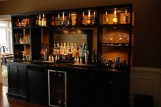 Home Bar DIY- love it and you could easily extend it to sit at too