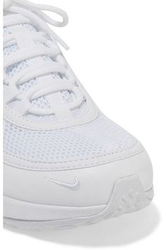 Nike - Air Zoom Spiridon Ultra Leather And Mesh Sneakers - White - US10.5