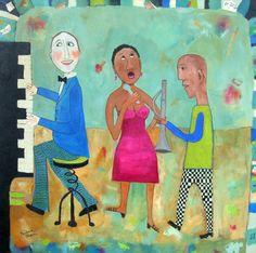 Piano man ©BarbaraOlsen mixed media