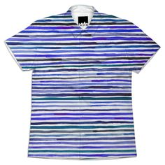 Painterly stripe shirt