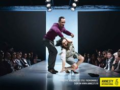 Ad campaign for Amnesty International on domestic violence.