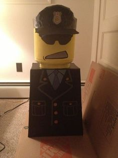 LEGO Man Costume: This is my first instructable so I apologize if its long winded but I'll do my best to explain :) Lego Halloween Costumes, Lego Man Costumes, Lego Costume, Diy Costumes, Picture Of Body, Trunk Or Treat, Bodies, Pictures, Spaces