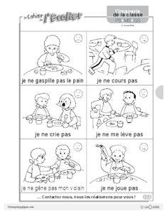L'imagerie : la cantine French Teacher, Yoga For Kids, Kids Education, Montessori, Worksheets, Animation, Vignettes, Perception, Multiplication