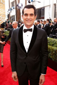 Ty Burrell in Giorgio Armani at the 71st Annual Golden Globe Awards.  Styled by Ilaria Urbinati.