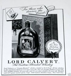 Lord Calvert Whiskey, Xmas Book (1939)