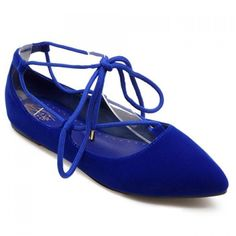 21.54$  Watch now - http://diok6.justgood.pw/go.php?t=172604901 - Sweet Pointed Toe and Tie Up Design Flat Shoes For Women 21.54$
