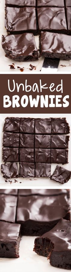 "Secretly healthy ""unbaked"" brownies from Covered Katie… dairy-free egg-free raw vegan paleo & gluten-free. Desserts Crus, Raw Desserts, Paleo Dessert, Gluten Free Desserts, Raw Dessert Recipes, Dinner Dessert, Healthy Desserts, Raw Food Recipes, Sweet Recipes"