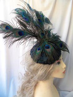 tocado plumas de faisn y pavo real tocado de plumas tocado