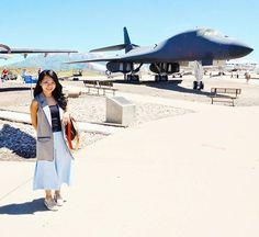 Instagram: @quennandher // topshop blazer gray vest // zara baby blue culottes, platform oxfords // Military aircraft. 🛩 // Hill Aerospace Museum, Roy, Utah.