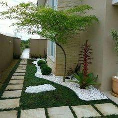Small garden design 836121487049443314 - 43 Creative Side Yard Garden Design Ideas For Summer Source by Modern Garden Design, Backyard Garden Design, Contemporary Garden, Backyard Patio, Backyard Ideas, Modern Design, Porch Ideas, Landscape Plans, Landscape Design