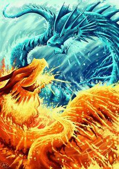 Fire Dragon Vs Water Dragon Tattoo