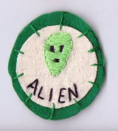 Green Alien Patch by Hanecdote on Etsy, £7.00