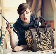 How to even explain? I want, I need, I must have the Celine boston tote in leopard -- but make mine the one with the black trim and front zipper pocket. Or, whichever. Celine Handbags, Celine Bag, Purses And Handbags, Celine Luggage, Fashion Handbags, Handbags Online, Fendi Purses, Purses Online, Cheap Handbags