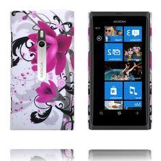 Valentine Big Kamera (To Lilla Blomster) Nokia Lumia 800 Deksel
