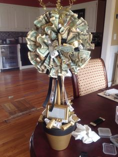 50th wedding anniversary money tree topiary