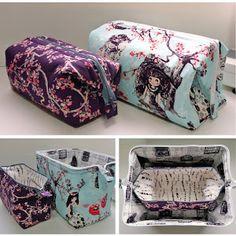 The Retreat Bag - A FREE Sewing Tutorial || Emmeline Bags #tutorial #diy #bag #cosmetics #wonderland #pretty #girly #makeit #sew #create