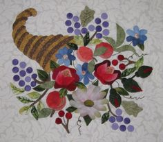 sandra leichner applique stitch | Baltimore Cornucopia Enhanced