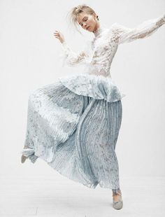 FashioNist: Sasha Luss is an unadulterated romantic in 'Fantasies Of A Ballerina'. Steven Pan is behind the lens