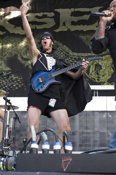 Adam D. of Killswitch Engage - Love when he comes on stage with his short shorts and cape LOL!