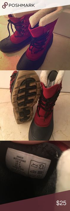 Brand Lands End snow boots Beautiful brand new red/black snow boots for kids— SIZE 4/EU36/UK3 Lands' End Shoes Winter & Rain Boots