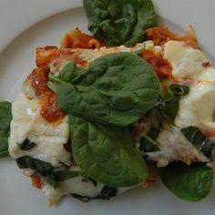Skillet Spinach Lasagna - Allrecipes.com