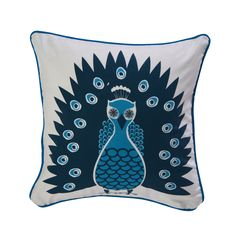 Based in none other than Los Angeles, Room Servicespecializes in punchy decor sought-after by Hollywood's elite. This pillow combines lush plumage with plump, soft cotton for asweet accent with star power. Go on, shake your tail feathers.