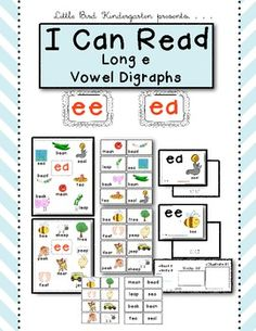 I Can Read Long e Vowel Digraphs Keep It Simple Activities