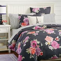 Vintage Bloom Duvet Cover + Sham from PBteen. Saved to dream room. Shop more products from PBteen on Wanelo. Dream Bedroom, Girls Bedroom, Bedroom Decor, Bedroom Ideas, My New Room, My Room, Beautiful Bedrooms, Bed Covers, Apartment Living