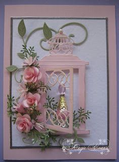 PENNY FLOWERS: Pink Bottle Card