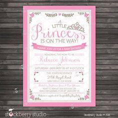 Princess Baby Shower Invitation Printable - Little Princess Baby Shower Invite Printable - Royal Baby Girl Invitation