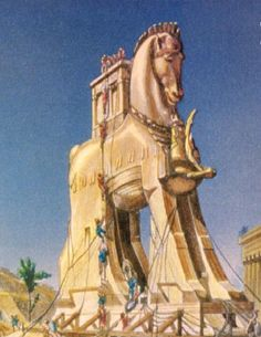 July or Obama's Independence Day Gift to America – a Trojan Horse Greek History, Ancient History, Troy Horse, Light Art Installation, Daughter Of Zeus, Ancient Goddesses, Trojan War, Jesus Painting, Halloween 4