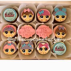 LOL surprise dolls cupcakes #cupcakes #lolsuprisedolls #cakedecorating #glasgow #cake #handmade #lolsurpriseparty #cakelover #cupcakestagram