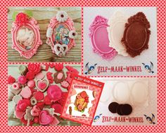 Make magnets with pourplast and acrylstickers