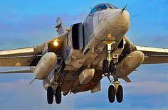 Russian Air Force Sukhoi Su-24 Fencer.