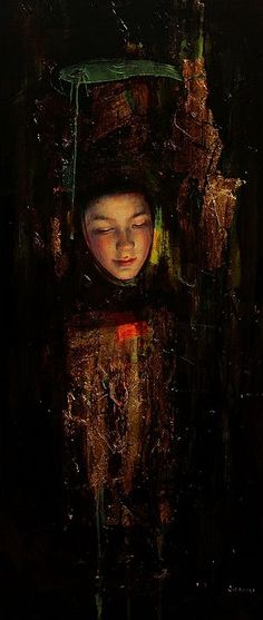 MAGDA  - Sol Halabi (born in 1977) is an Argentian artist who paints in mixed media including tar and beeswax.