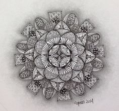 My latest zentangle--I'm very pleased with the way the shading turned out.  This one is going in the living room.