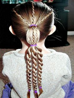 Hairstyles For Girls With Long Hair: Twist Braids