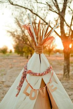 sunrise love #teepee  #wedding