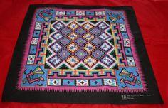 Vintage Bandana Aztec Theme All Cotton by by ilovevintagestuff