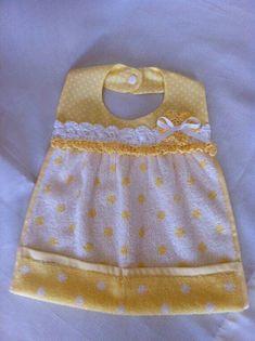 Baby Bib from wash cloth