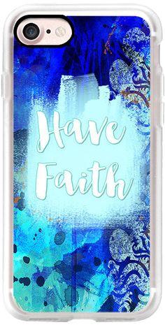 Casetify iPhone 7 Classic Grip Case - Have Faith by Li Zamperini Art #Casetify