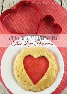 Valentine's Day Breakfast Idea: True Love Pancakes {Recipe}
