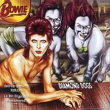 David Bowie - Diamond Dogs (1974) The cover art features Bowie as a striking half-man, half-dog grotesque painted by Belgian artist Guy Peellaert. It was controversial as the full painting clearly showed the hybrid's genitalia. Very few copies of this original cover made their way into circulation at the time of the album's release. According to the record-collector publication Goldmine price guides, these albums have been among the most expensive record collectibles of all time.